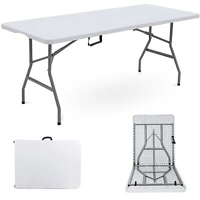 £48.99 • Buy 6FT HEAVY DUTY 1.8 Meter FOLDING TABLE CATERING CAMPING TRESTLE BBQ PICNIC PARTY