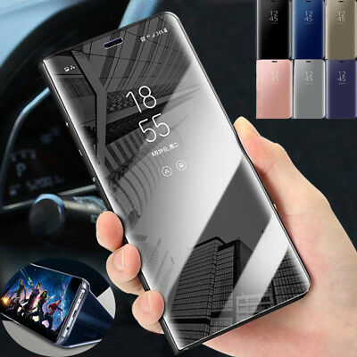 $ CDN6.67 • Buy For Xiaomi Pocophone F1 Mi A2 8 Lite Mirror Flip Case Leather Stand Smart Cover