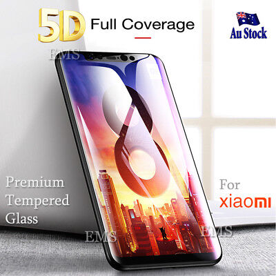 AU7.99 • Buy 5D Full Coverage Xiaomi Mi 8   A1 A2   Note 5 Tempered Glass Screen Protector