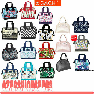 AU29.95 • Buy SACHI INSULATED LUNCH BAG Tote Storage Container Carry Strap 20 DESIGNS PI