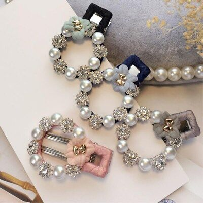 $ CDN2.22 • Buy Boutique Girls Baby Kids Hair Clips Snap Flower Pearls Head Hairpin Accessories
