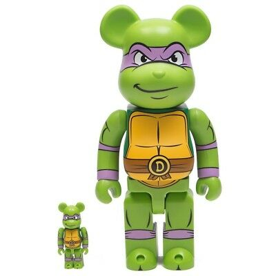 $149.99 • Buy Medicom BE@RBRICK TMNT Donatello 100% 400% Bearbrick Figure Set