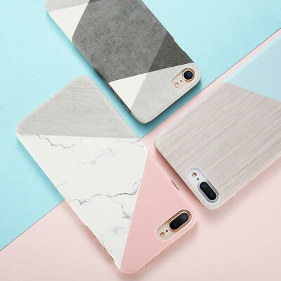 AU3.99 • Buy For IPhone 8 7 Plus Case Marble Slim Thin Cute Shockproof Bump Cover