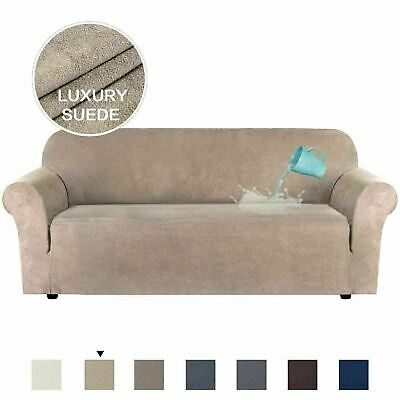 AU50.39 • Buy Water Repellent High Stretch Sofa Cover Suede Couch Covers Slip Cover Multi Size