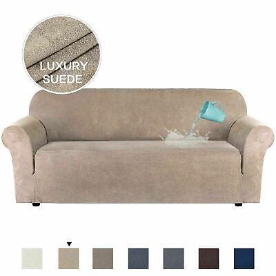 AU43.15 • Buy Water Repellent Stretch Suede Sofa Covers Couch Covers Slip Covers Soft Non Slip