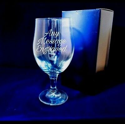 Personalised Engraved Pint Glass Stemmed Pint Glass 30th 40th 50th Birthday • 10.99£
