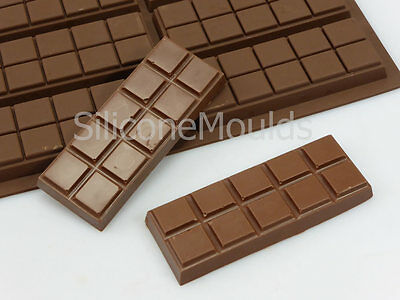 6 Cell 10 Chunk Sections Chocolate Bar Candy Snap Professional Silicone Mould  • 6.99£