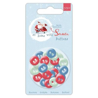 £2.94 • Buy At Home With Santa' Papermania Christmas Collection - Buttons (30pcs)