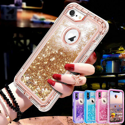 AU7.01 • Buy 360° Liquid Glitter Bling Heavy Duty Case Cover For IPhone 11 XR Xs Max 7 8 Plus