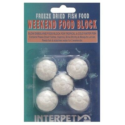 Interpet Weekend Holiday Fish Food Slow Release Freeze Dried Tropical Aquarium • 3.15£