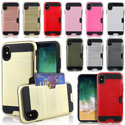 AU7.19 • Buy  For Apple IPhone X Xr XS Plus Slim Sleek Case With ID Credit Card Holder Cover