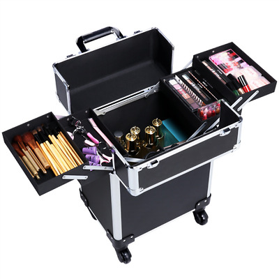 $49.99 • Buy Rolling Professional Makeup Trolley Artist Travel Case Cosmetic Storage Case