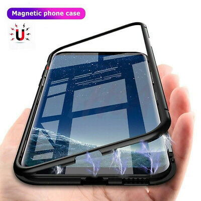 $ CDN12.64 • Buy Case For Samsung Galaxy S8 S9 S10 Plus Magnetic Adsorption Tempered Glass Cover