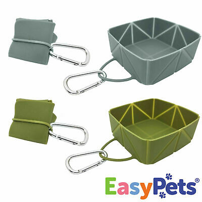 £9.99 • Buy EasyPets Dog Bowls Food Water Puppy Cat Pet Travel Collapsible Fold-a-Bowl