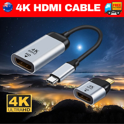 AU10.95 • Buy 4K Type C To HDMI Adapter 30Hz USB C 3.1 Male To HDMI Female Cable FOR MACBOOK