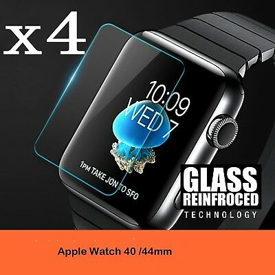 $ CDN4.68 • Buy Apple Watch Series 4/3/2/1 40MM/44MM 9H Tempered Glass Screen Protector Film 4PK