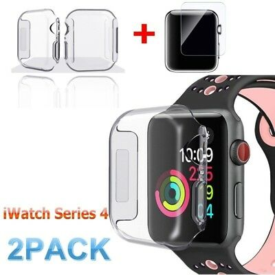 $ CDN2.21 • Buy For Apple Watch Series 4 Tempered Glass Screen Protector + Soft TPU Case 40/44mm