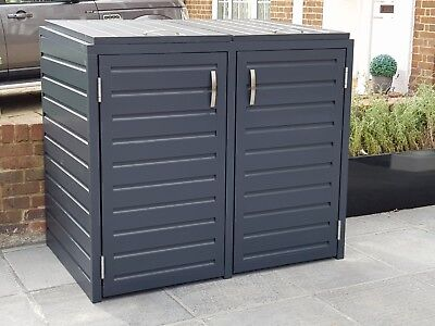 Double Wheelie Bin Tidy Store/Cover/Shed/Storage Unit, With Recycling Box Option • 950£