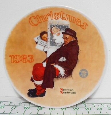 $ CDN33.32 • Buy Norman Rockwell  Santa In The Subway  Christmas 1983 Plate - Limited Edition