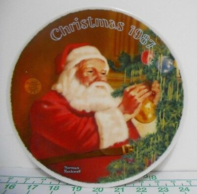 $ CDN26.65 • Buy Norman Rockwell  Santa's Golden Gift  Christmas 1987 Plate - Limited Edition