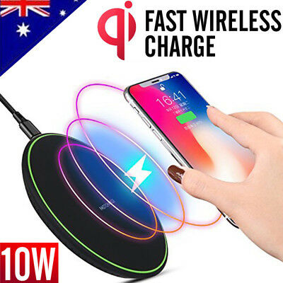 AU13.75 • Buy 10W Qi Fast Wireless Charger Charging Receiver IPhone X XS 11 Pro Max XR 8 Plus
