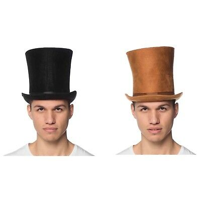 £32.79 • Buy Mens Curved Bell Costume Top Hat Black Brown Magician Lincoln Dickens Halloween