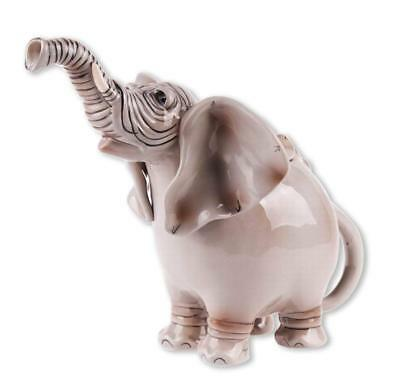ELEPHANT Hand-Painted Ceramic Teapot, By Blue Sky Ceramics, 10  Tall • 48.27£