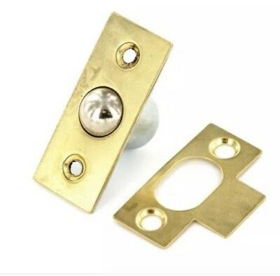 19mm Large Brass Bales Catch Door Ball Roller Latch Cupboard With Plate Screws • 2.25£