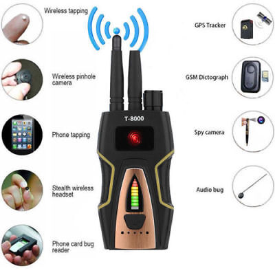 Pro Rf Spy Bug Detector Frequency Scanner Sweeper Gps Gsm Bugs Tracker Signal • 125£