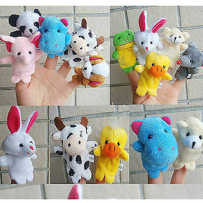 New 10x Farm Zoo Animal Finger Puppets Toys Boys Girls Babys Party Bag Filler Uk • 4.45£