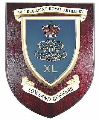 40th Reg Royal Artillery Lowlands Classic Hand Made In Uk Regimental Wall Plaque • 19.99£