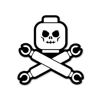 £2.20 • Buy Lego Head Pirate-Funny-Stickers-Decals-for-Car-Van-Bumper-Wall-Mirror JDM150x155
