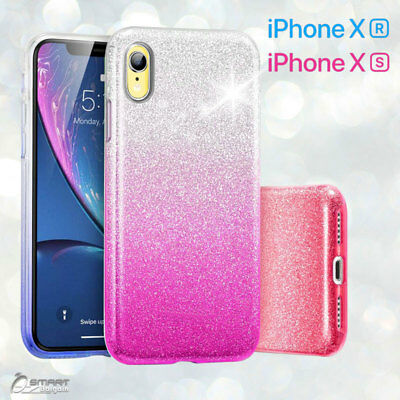 AU5.99 • Buy Gradient Glitter Shining Bling TPU Gel Case Cover For IPhone XS Max  XR   X  Xs