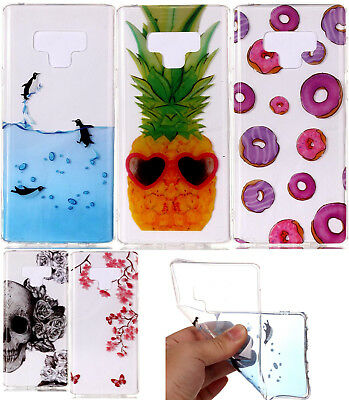$ CDN10.52 • Buy For Samsung Galaxy Note 9 - Hard TPU Rubber Gummy Clear Design Phone Case Cover