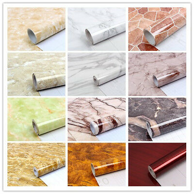 5m Vinyl Self Adhesive Marble Worktop Cupboard Door Cover Kitchen Wall Stickers • 17.99£