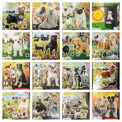 £2.95 • Buy Dog Breed Stickers Assorted Breeds 2 X A4 Size Sheets Pug, Westie, Bulldog