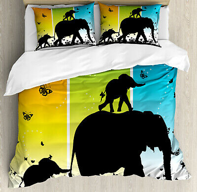 $69.99 • Buy Zoo Duvet Cover Set With Pillow Shams Fantastic Colorful Nature Print