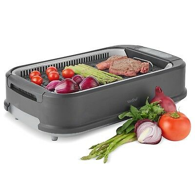 £79.99 • Buy VonShef Smokeless Grill Indoor BBQ Barbecue Non Stick Machine Electric Table Top