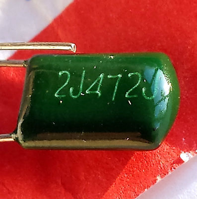 10 Pieces X 4.7nF 4n7 4700pF 0.0047uF, 630v, Mylar Capacitor Polyester –ref:206 • 1.35£