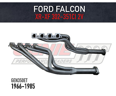 AU685 • Buy GENIE Headers / Extractors To Suit Ford Falcon XR-XF V8 4V Heads - Tuned Length