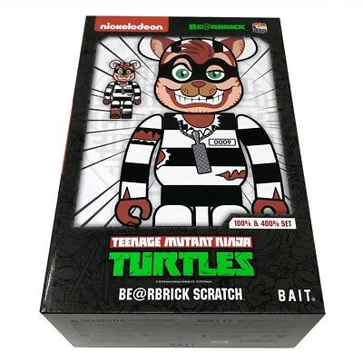 $180 • Buy BAIT Medicom BE@RBRICK TMNT Scratch 100% 400% Bearbrick Set NYCC 2018
