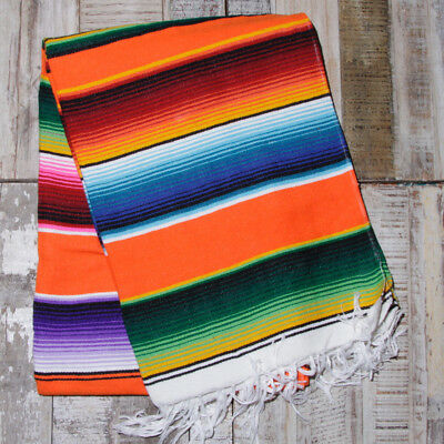Mexican Stripey Blanket - Orange • 32£