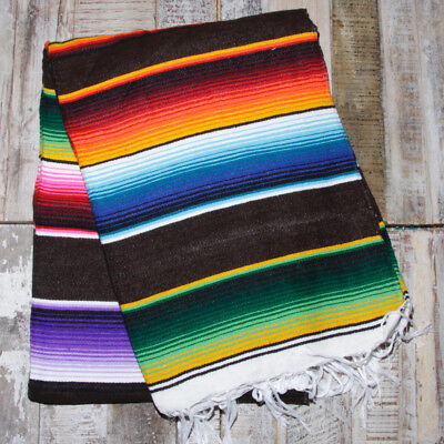 Mexican Stripey Blanket - Brown • 32£