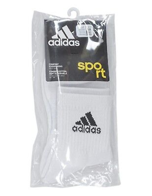 AU19.50 • Buy Adidas Men 3 Stripes Performance Crew Pairs Socks White High Size L Sock AA2300