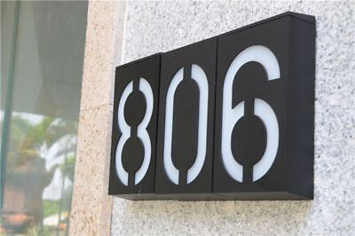 £32.52 • Buy Lighted House Number Solar Battery Wall Mount Doorplate Lamp