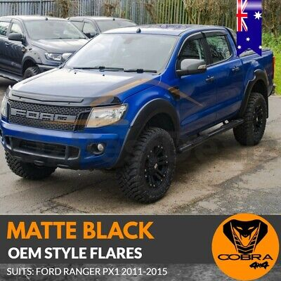 AU299 • Buy Fender Flares Kit Matte Black Fits Ford Ranger Px1 Mk1 2011- 2015 Guard Trim Oem