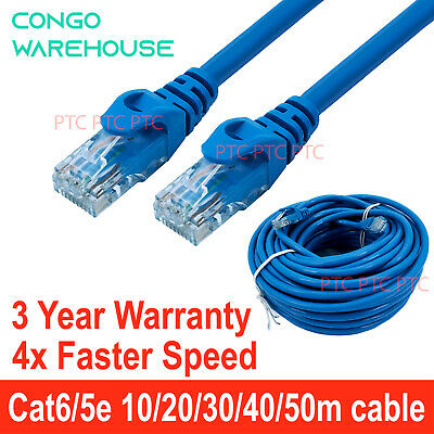 AU9.80 • Buy Cat6/Cat 5e Patch Lead 10m/15m /20m/ 30m /40m /50m UTP Ethernet Data Cable Cord