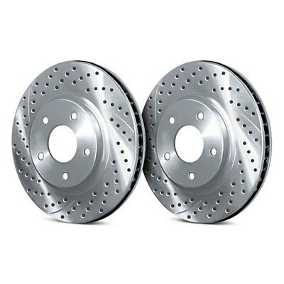 $204.10 • Buy For Acura RL 05-12 Chrome Brakes Drilled & Slotted 1-Piece Rear Brake Rotors