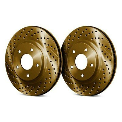 $226.85 • Buy For Acura RL 05-12 Chrome Brakes Drilled & Slotted 1-Piece Front Brake Rotors