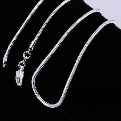 £2.29 • Buy Wholesale 925 Silver Xmas Gift SNAKE Chain 1mm Necklace 16 18 20 22 24  New